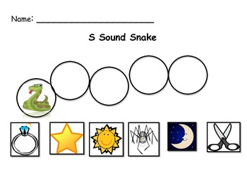 Ss Initial Sound Snake