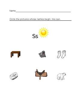 Ss Sun Homework Sheet #1