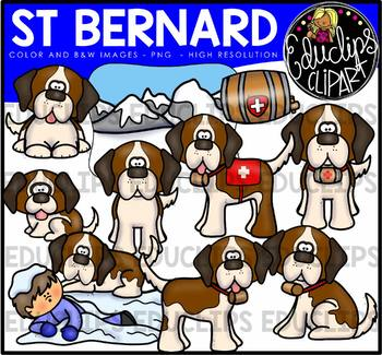 St Bernard Clip Art Bundle {Educlips Clipart}
