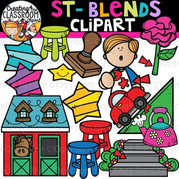 St- Blends Clipart {Beginning Blends Clipart}