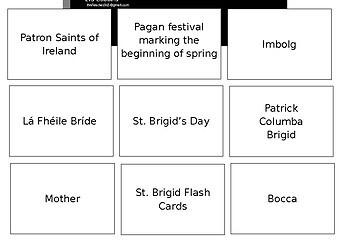 St Brigid Flash Cards