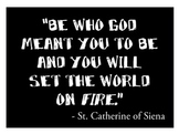 St. Catherine of Siena Poster