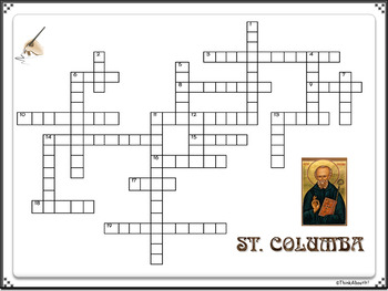 Christianity: St. Columba Crossword Puzzles