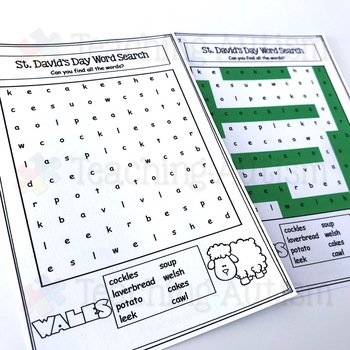 St David's Day Word Search
