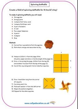 St David's Day Numeracy Challenge Area