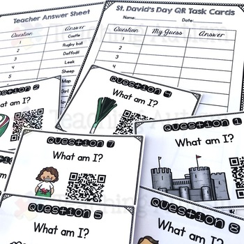 St. David's Day QR Code Task Cards