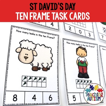 St. David's Day Ten Frame Task Cards