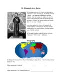 St. Elizabeth Ann Seton Worksheet