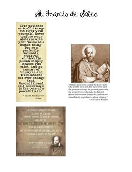 St. Francis de Sales Questions Worksheet