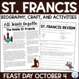 St. Francis of Assisi Biography & Activities