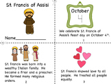 Saint Francis of Assisi Mini Book and Coloring Page