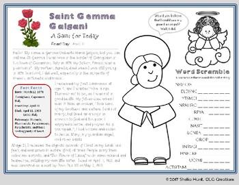 St Gemma Galgani - Short Saint Study