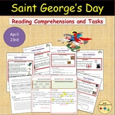 St. George's Day Reading Comprehension Worksheets