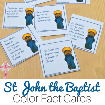 Saint John the Baptist Fun Fact Cards for Catholic Kids