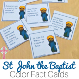 Saint John the Baptist Fun Fact Cards for Catholic Kids