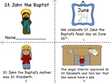 St. John the Baptist Mini Book and Coloring Page