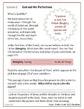 Week 2, St Joseph Baltimore Catechism I, Worksheets, Lesson Plans & Answer Key