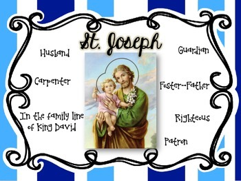 St. Joseph: Foster Father of Jesus Freebie