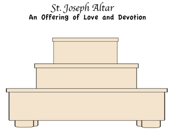 St. Joseph Altar Cut and Paste Activity