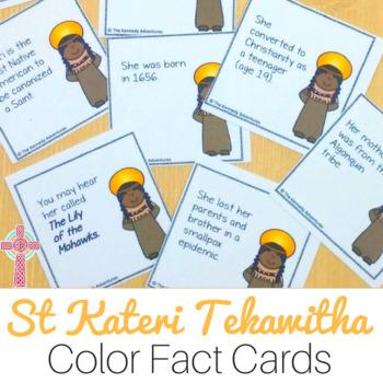 Saint Kateri Tekawitha Fun Fact Cards for Catholic Kids