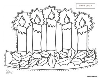 St Lucia Christmas Pattern hats and activities
