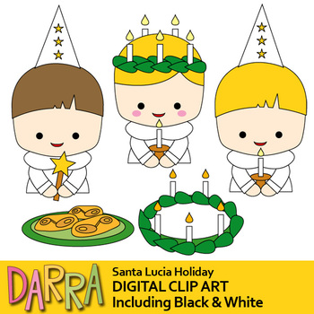 St. Lucia's Day Clip Art (Santa Lucia/ Saint Lucy's day clipart)