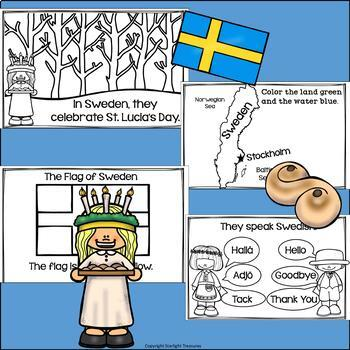 Christmas in Sweden: St. Lucia's Day Mini Book for Early Readers