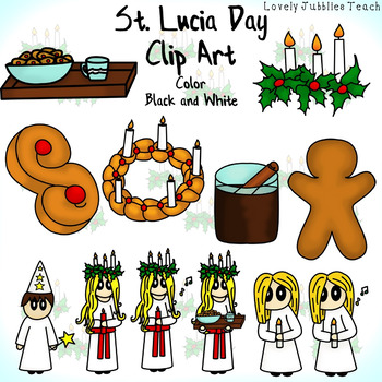 St. Lucia's Day Themed Clip Art
