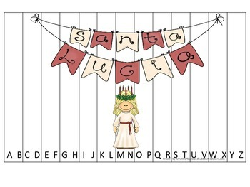 St. Lucia themed Alphabet Sequence Puzzle.  Preschool learning game.