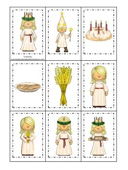 St. Lucia themed Memory Matching Cards.  Preschool learning game.