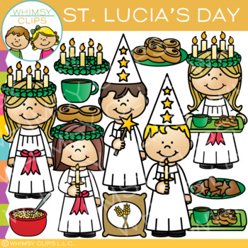 St. Lucia's Day Clip Art {Holidays Around the World Clip Art}
