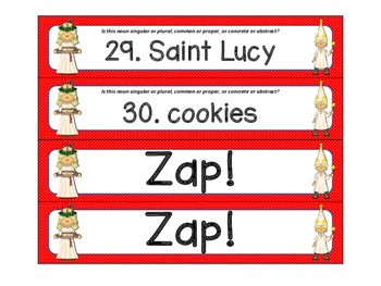 St. Lucy's Day ZAP Kinds of Nouns