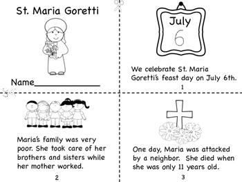 St. Maria Goretti Mini Book and Coloring Page