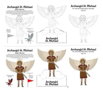 St. Michael Archangel Activities, Coloring, and Papercrafts