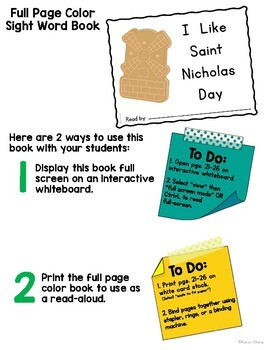St. Nicholas Day Emergent Reader and Activities