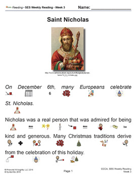 SES Weekly Reading: St. Nicholas