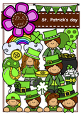 St.PATRICK'S DAY Digital Clipart (color and black&white)