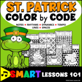 St. Patricks Day Music Color by Code Color by Note Color by Rhythm Dynamic Tempo