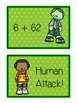 St. Paddy's Day Zombie Card Game - ADDING 2 and 1 DIGITS - Math Folder Game