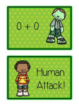 St. Paddy's Day Zombie Card Game - ADDING DOUBLES - Math Folder Game