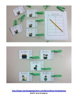 St. Paddy's Day Addition Math Centers  (Sums of 0 to 10)