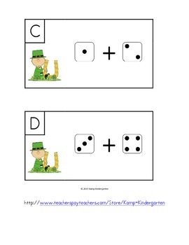 St. Paddy's Day Dice Add the Room (Sums to 10)