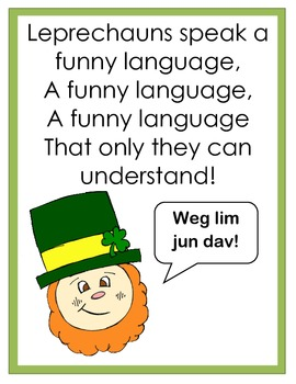 St. Paddy's Day Reading and Math Pack