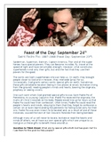 St. Padre Pio Saint of the Day Worksheet