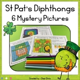 St Pat's Day Vowel Diphthongs  6 Mystery Pictures - Color