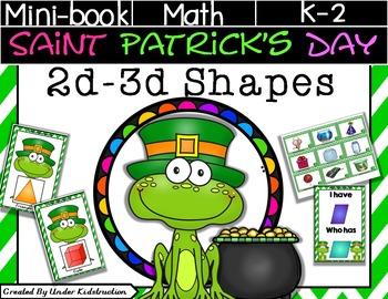 St. Patric'ks Day 2D and 3D Shapes Mini-Pack