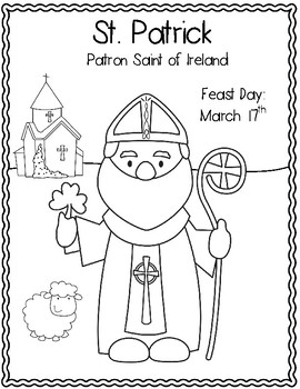 St. Patrick Book, Word Search, Coloring Page, Shamrock