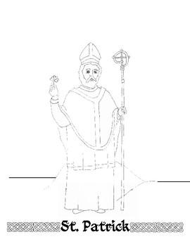 St. Patrick Catholic Paper Doll Craft and Prayer Card
