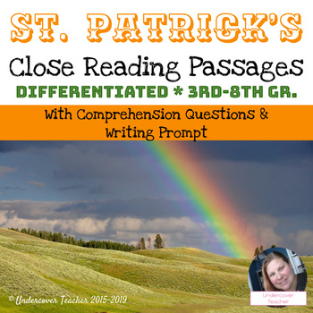 St. Patrick Close Reading Passages with Questions (Differe