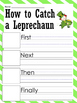 St. Patrick's Day Leprechaun Worksheets and Writing Prompt